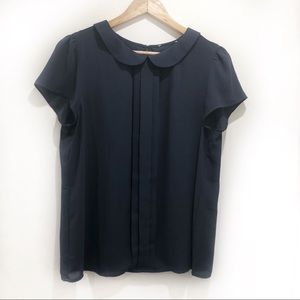 LOFT rounded collar blouse